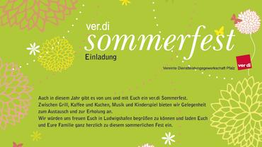 Einladung zum Sommerfest am 1.7.2016 in Ludwigshafen