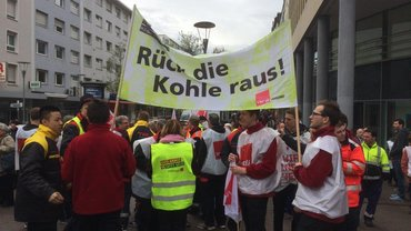Warnstreik in Ludwigshafen