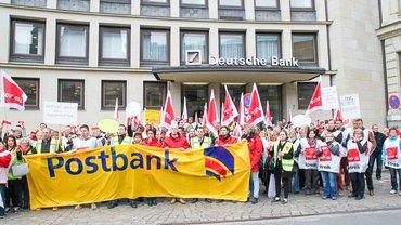 Streik Postbank Hamburg