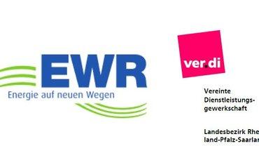 Logos von EWR und ver.di