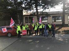 Bilder des Streiks bei Smurfit Kappa am 11.10.2018