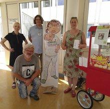 Im Westpfalzklinikum in Kaiserslautern sorgte die ver.di –Betriebsgruppe mit Ihrer Popcorn Aktion für Aufmerksamkeit und erhielt viel Zuspruch für die Forderung  nach einer bezahlten Pause.